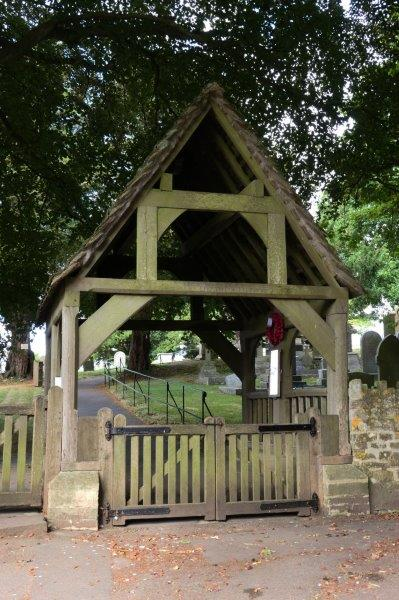 We are outside the lych gate of Old Sodbury Church