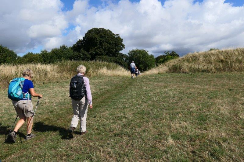 Then uphill to a hill fort