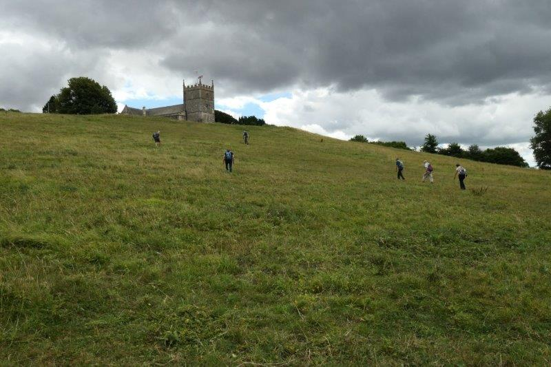 Then a long climb to the Church at Old Sodbury