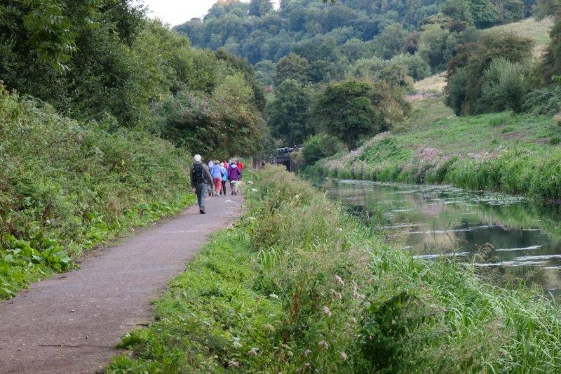Along the canal path