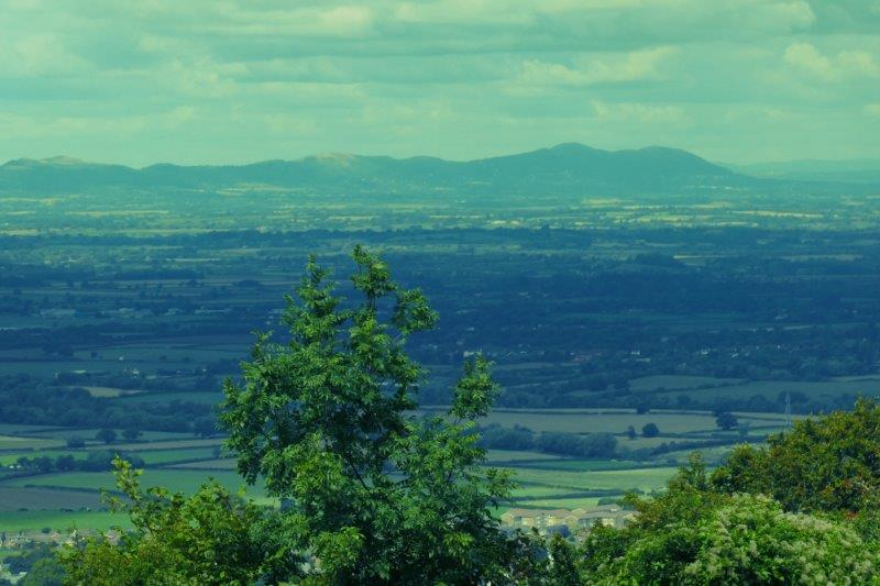 Coming out, we have views of the Malverns