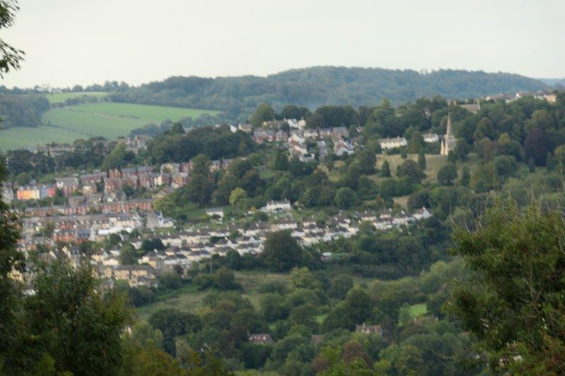 The outskirts of Stroud now appearing