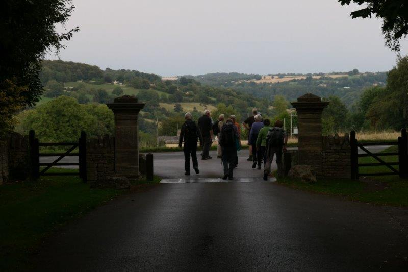 Leaving by the main gate
