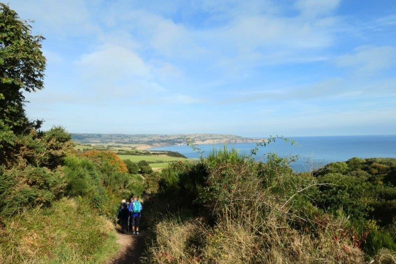 We head off towards the coast path