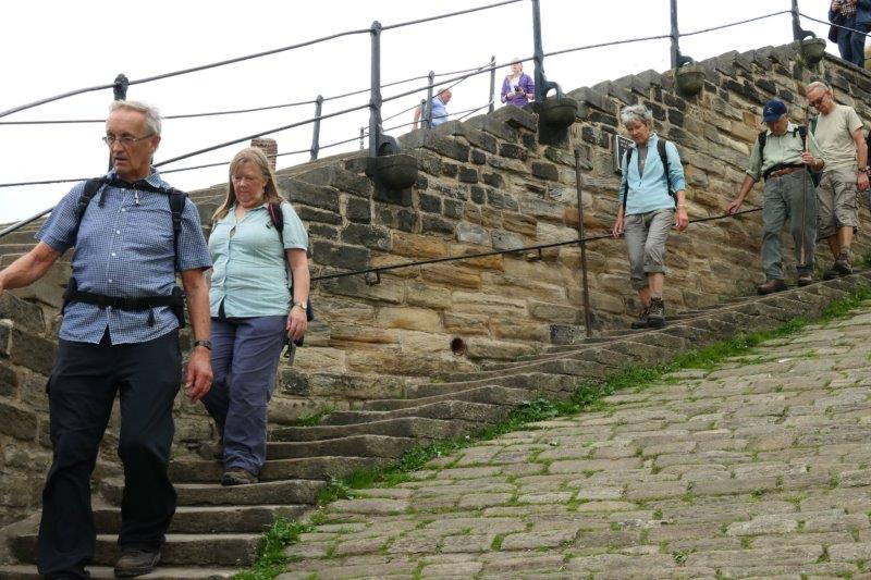 Down steps into Whitby