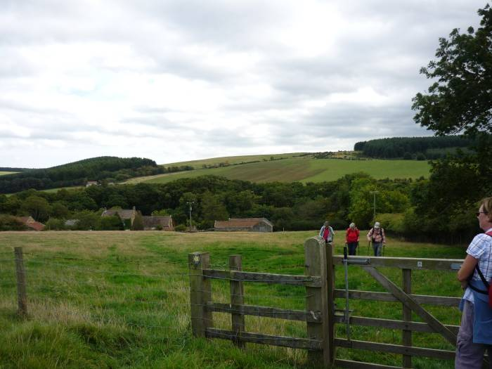 In the afternoon the weather improves and we walk across farmland