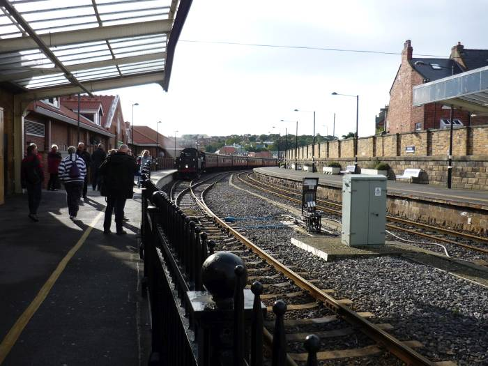 We're at Whitby to catch the steam train on the North York Moors Railway