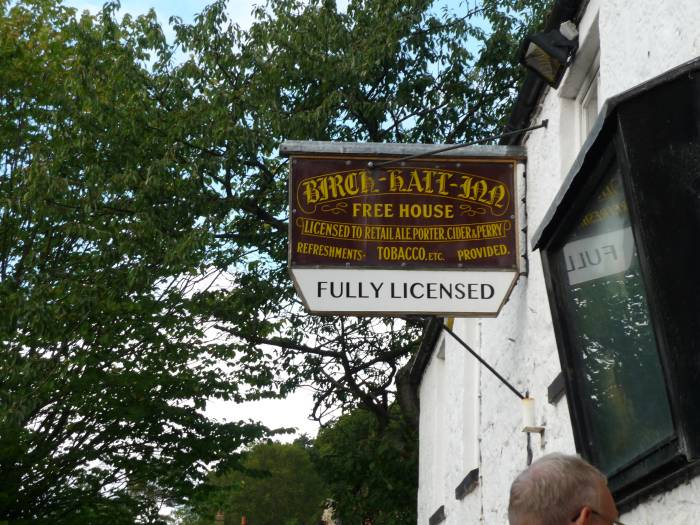 We arrive at the pub at Beck Hole