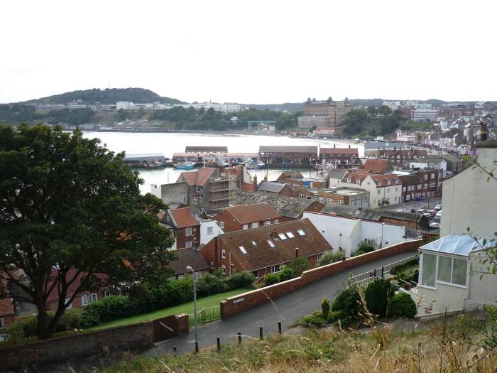 Looking down on the harbour
