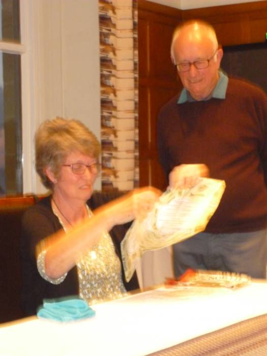 Finally we present Ann with a gift from us as a Thank You for her hard work in organising such an enjoyable holiday.