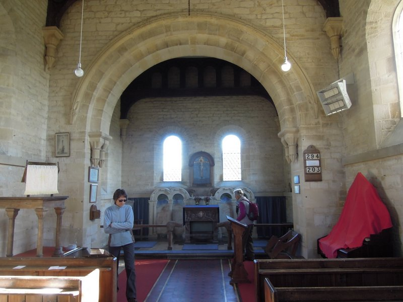 Some us have a quick peek inside Tresham church