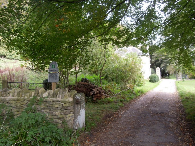 We pass the lower lodge of Newark Park - there is a permissive path up through there