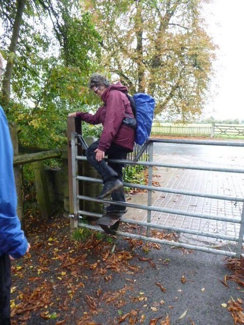 We finish with amusement at the contortions needed to get over this gate.