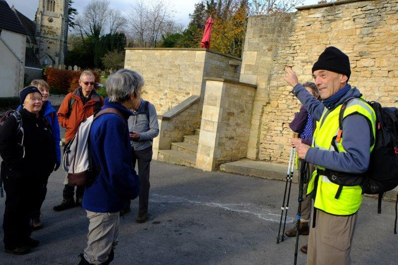 Peter is leading us from Uley