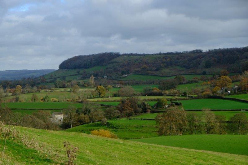 With views across to Coaley Peak