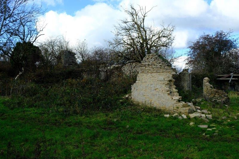 Past a derelict cottage