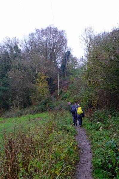 We head off along a well trodden path