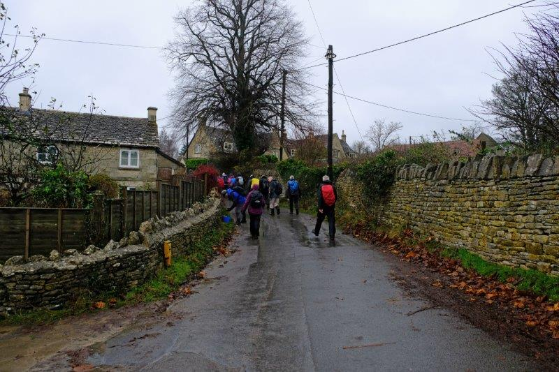 Ann leads us out through Amberley