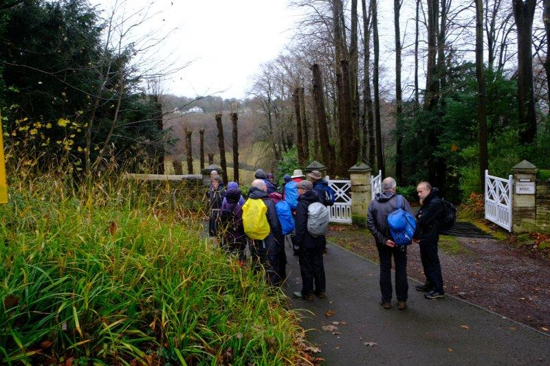 Crossing Bear Hill to enter Manor Woods
