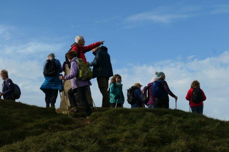 And pausing at the top to take in the views