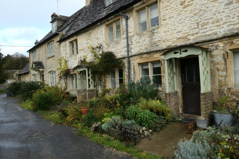 More old cottages - no rain now