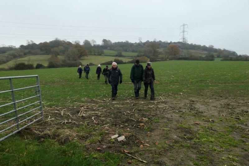 As we cross a couple of fields