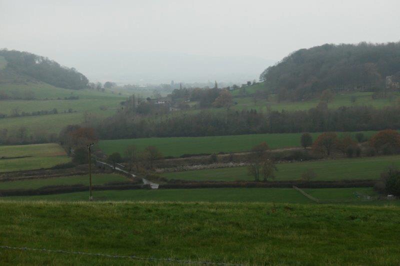 The valley still looking very misty