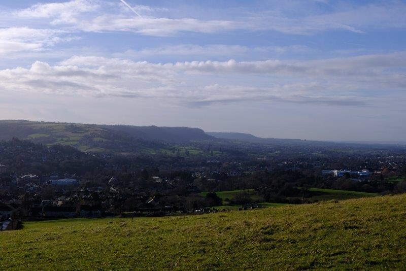 Looking down the valley over Stroud