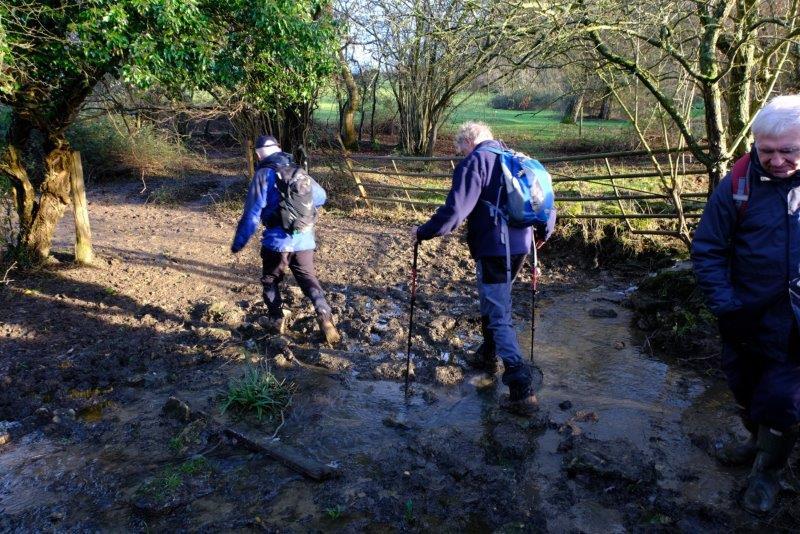 A muddy crossing