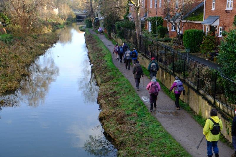 And along the towpath