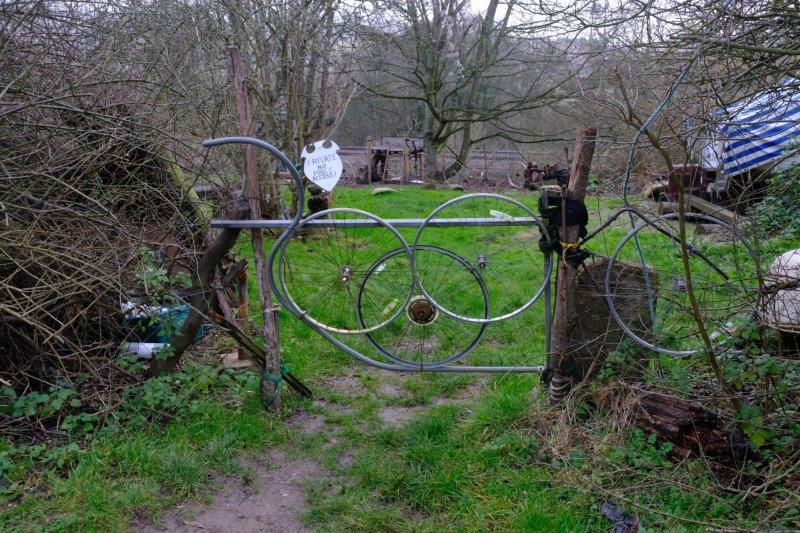 Even the local landowner uses unusual fencing material