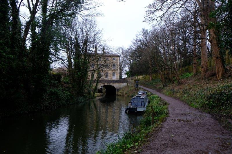 Looking back along the canal