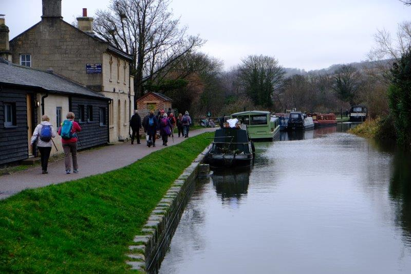 And on to the towpath