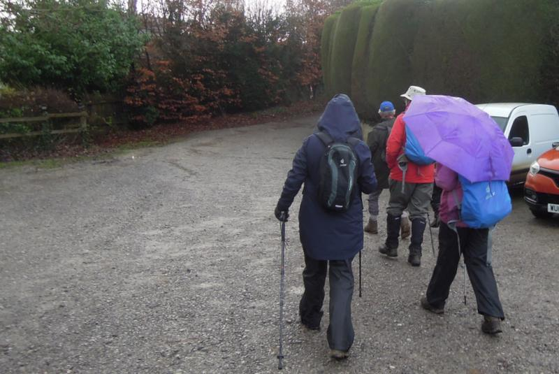 Off we go on a wet morning