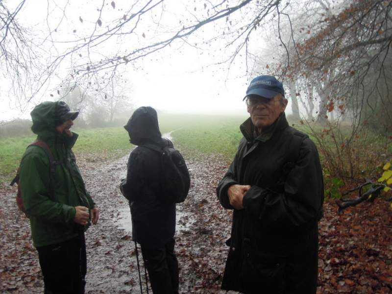 We reach the end and after asking the walkers, Colin decides not to venture out into the driving rain