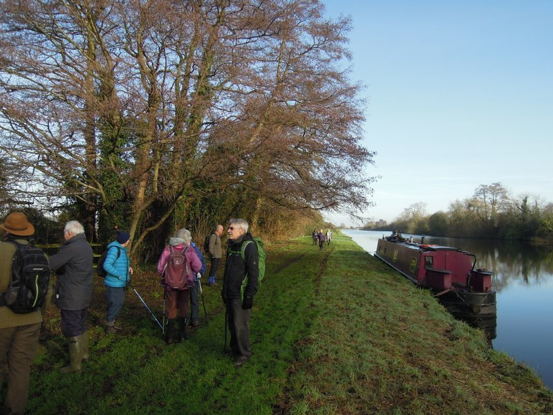 We follow the towpath