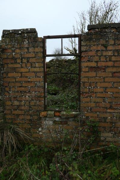 Past some old ruins