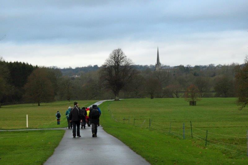 Catching sight of Tetbury Church spire in the distance