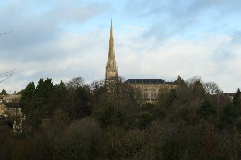 Tetbury Church in front of us