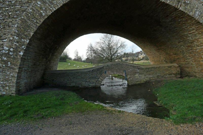 Looking through one of the viaduct arches
