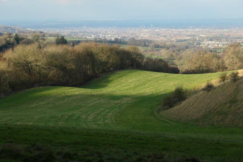 Looking down towards Gloucester