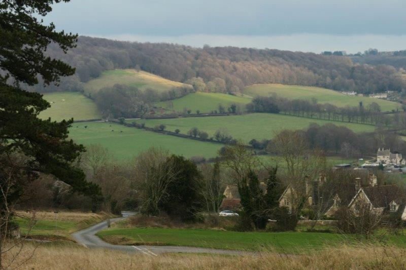 A last look across Painswick to the other side of the valley