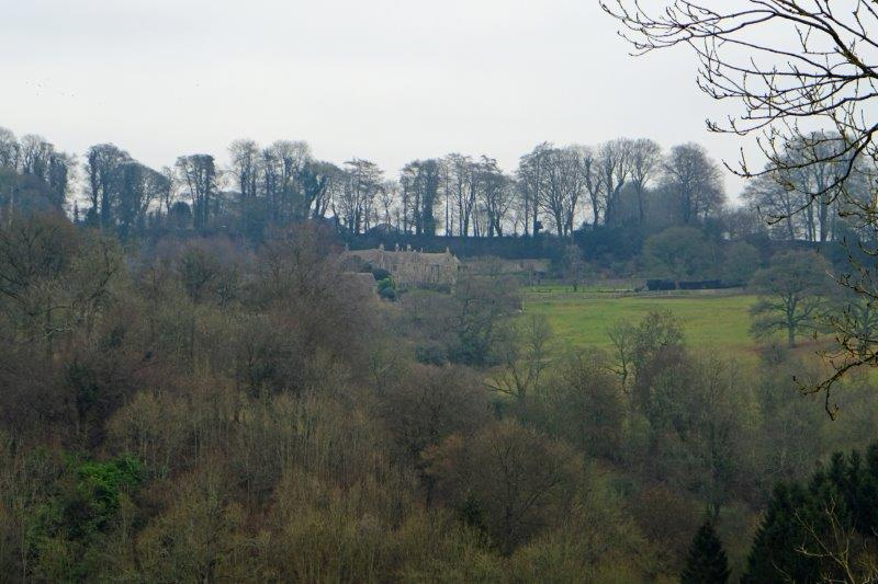 Looking across to Pat Smythe's old property in Sudgrove