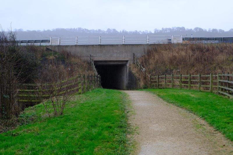 Past the tunnel leading to the south bound services
