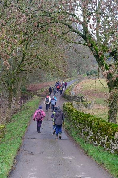 As we follow the lane to Westley Farm