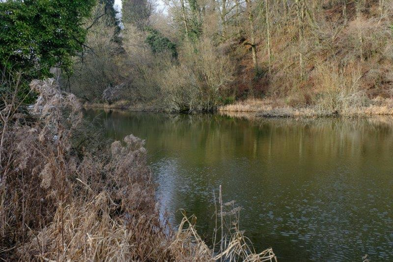 With its mill pond