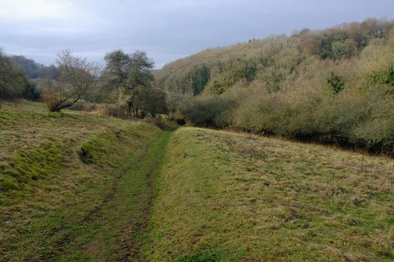 Then a steep climb uphill