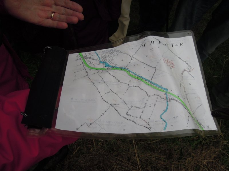 Patrick's map shows the original route of canal (green) and river Frome (blue)