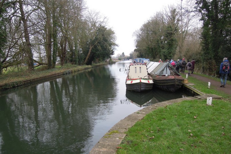 The short arm of the Stroudwater Canal, with moorings