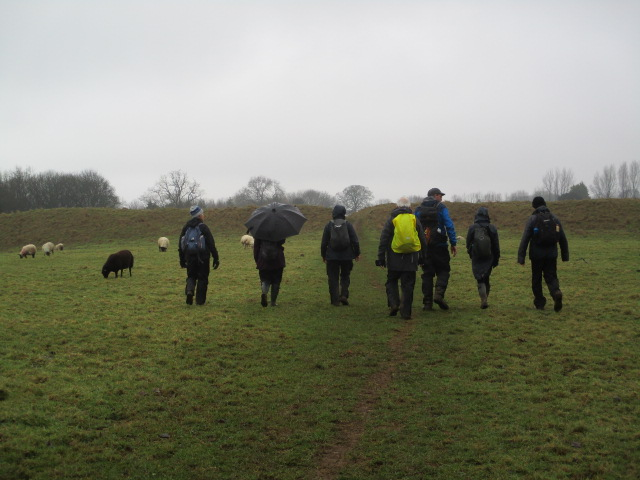 Crossing Old Sodbury Fort